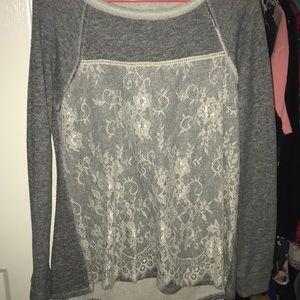 Gray long-sleeve shirt